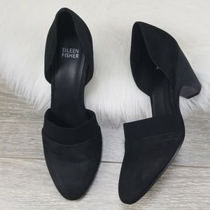 EILEEN FISHER Bailey Suede d'Orsay Pumps